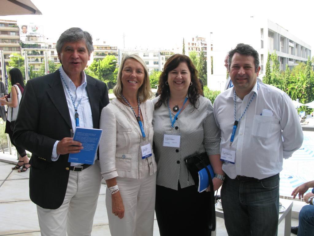 From left: Dietr Zorczak (President 2011-12), Gunilla Broadbent (Present), Angela Orsaris (TMIC), John Marinopoulos (Council Member)