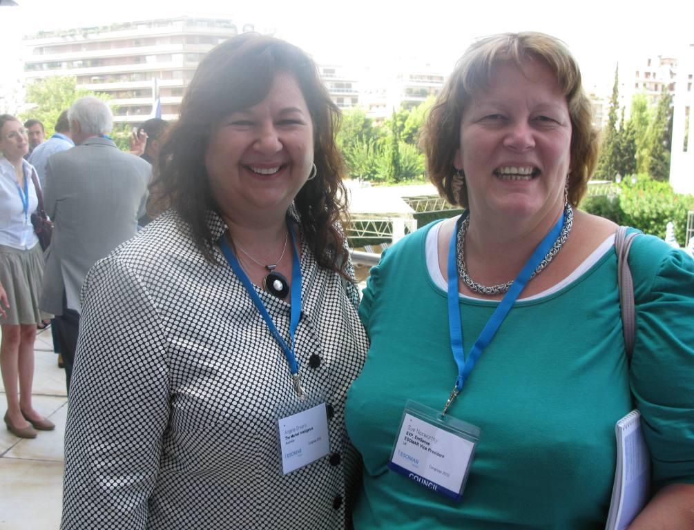 Angela Orsaris with Sue Nosworthy (Council Member)