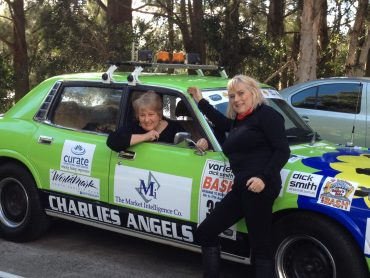 June & Linda - Charlie's Angels Bash Car